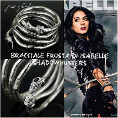 Bracciale / Frusta Serpente di Isabelle Lightwood dalla saga The Mortal Instruments – Shadowhunters, Città di Ossa.