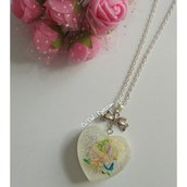 Collana Alice in Wonderland cuore piccolo
