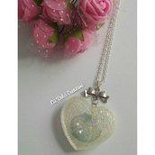 Collana cuore conchiglia e perle