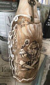 Bottiglie decorative da arredo - Joker - altezza 38 cm
