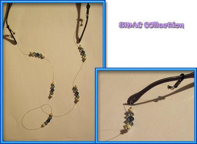 Catenella occhiali swarovski blu