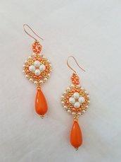 Orecchini Orange.  Orange earrings