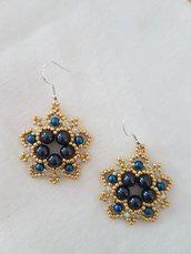Orecchini FIBY Blu con cristalli Swarovski e argento 925