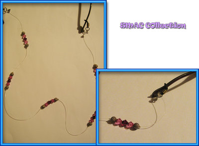 Catenella occhiali swarovski rosa