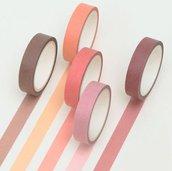 Washi tape, masking tape colori misti
