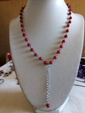 Collana rosario rossa