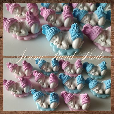 Bebè ceramica su base porcellana fredda Bomboniera nascita