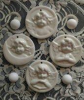 1stampo medaglione tondo con angelo diam.cm.8 a scelta tra 4 modelli