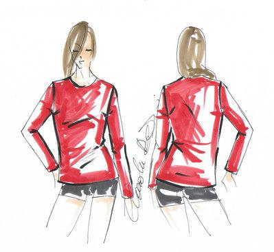 Cartamodello in taglia standard maglietta semilenta basic