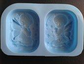 stampo 2 angeli alati in preghiera maschio/femmina cm.7,5x6