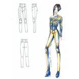 Cartamodello su misura pantalone aderente a vita alta