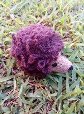 Riccio lavorato a maglia in pura lana vergine e imbottitura in kapok