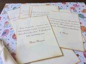 Pergamena matrimonio invito ringraziamento frasi e citazioni amore - chiusura nastrino avorio