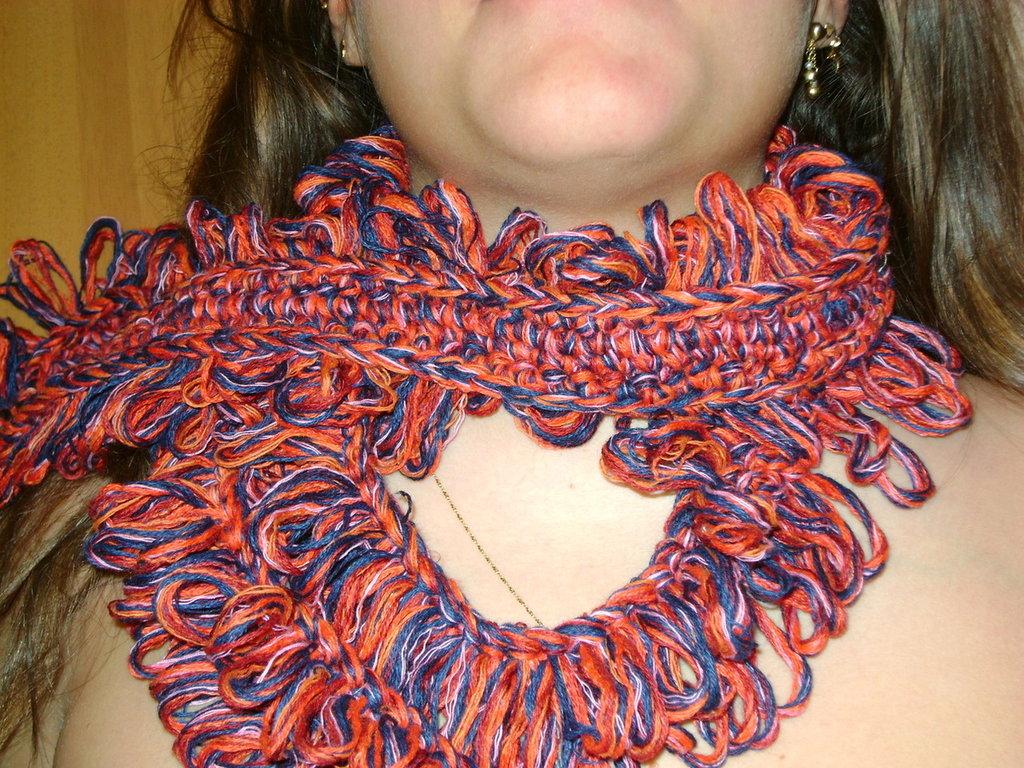 Ricciola - sciarpa uncinetto