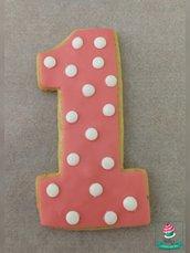 biscotti numero decorati tema Minnie
