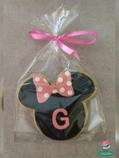 biscotti decorati segnaposto compleanno tema Minnie