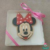 biscotto decorato  Minnie con scatola