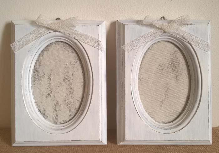 Coppia cornici porta foto bianche da parete per la casa e per te su misshobby - Cornici foto da parete ...