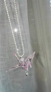 Ciondolo gru origami per specchietto auto