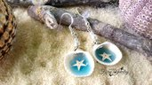 Orecchini conchiglie stelle marine mare monachelle argento 925