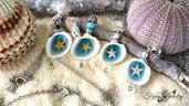 Collana conchiglia stella marina acciaio inossidabile scegli la tua preferita  gioielli bigiotteria mare