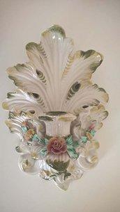 Portacandele da parete in ceramica di Bassano