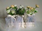 Set vasetti decorativi matrimonio