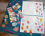 disegnato tutto a mano - planner kit - kawaii Craft Kit - Scrapbook, Planner, Cards, and More!