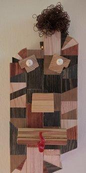 Maschera scultura in legno