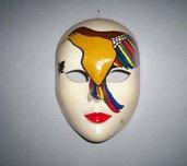 Maschera decorativa ceramica Birdy