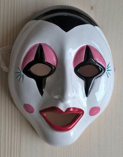 Maschera decorativa ceramica Pagliaccio