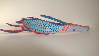 Pesce Combattente in legno riciclo creativo