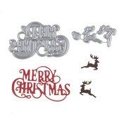 Fustelle in metallo con motivo natalizio