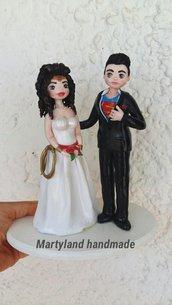 Cake topper torte sposi