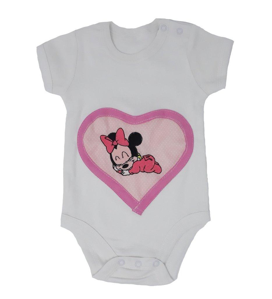 BODY con ricamo baby Minnie - Misura: 6-9 mesi