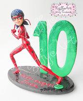 """Cake topper """"Ladybug"""" (personalizzabile)"""