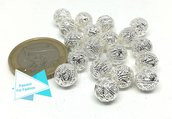 19 perle in metallo filigrana