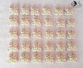 bomboniere compleanno folletti gemelli con cuore verde personalizzabile