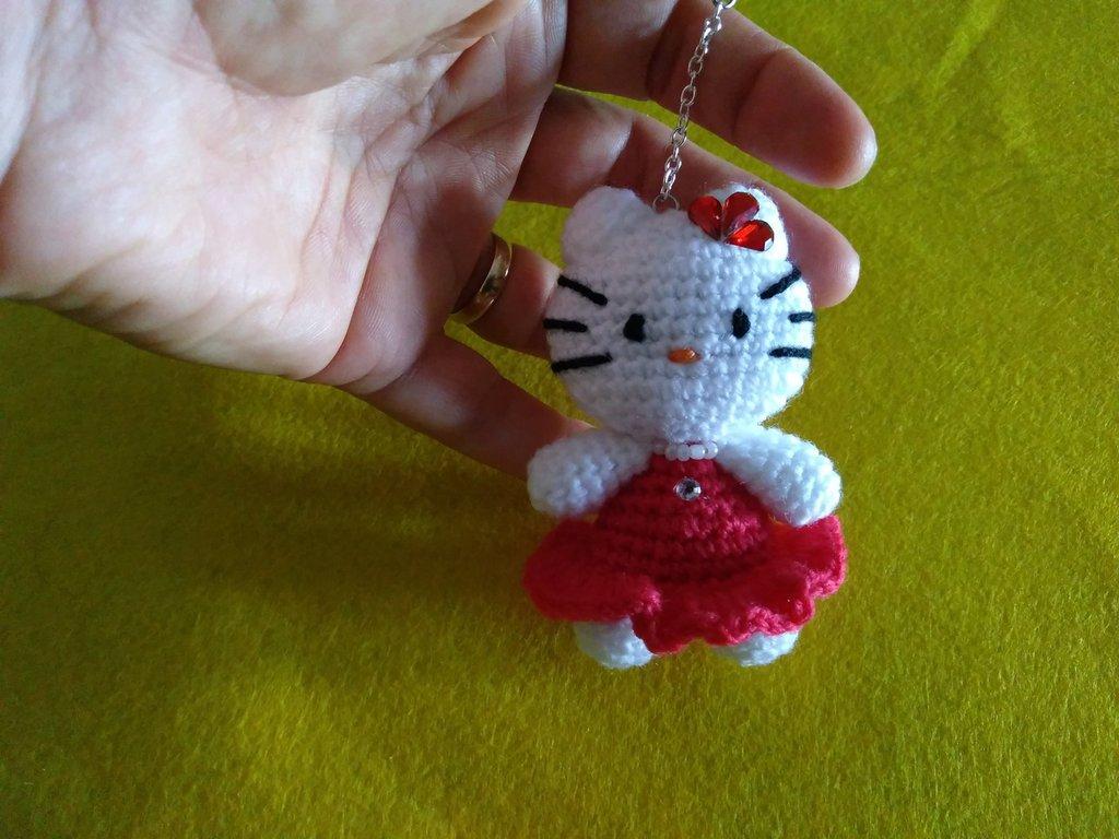 Portachiavi Kitty Rosa