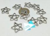 Connettore argento tibetano stella