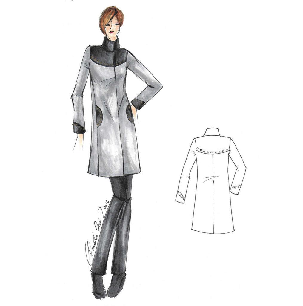 Cartamodello in taglia standard cappottino