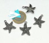 Charm stella marina, argento tibetano