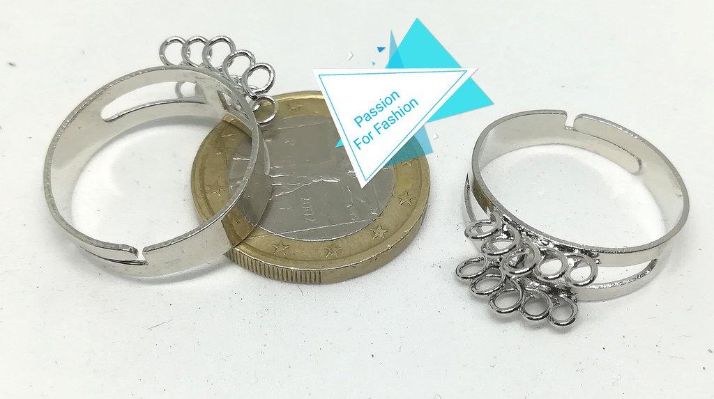 Base per anelli regolabili con asole