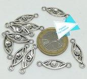 10 connettori ovali, argento tibetano