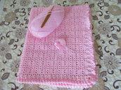 Copertina neonata, rosa, per lettino