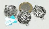 Connettore rotondo con disegno tribale, metallo PFF052
