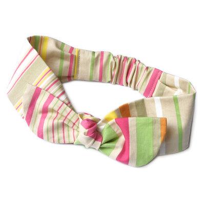 Fascia per bambina. Fatta a mano in cotone. Multicolore. Righe. Made in Italy