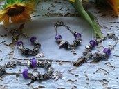 Bracciale con charms e pendenti,in omaggio segno zodiacale o iniziale