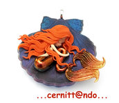 Collanina Sirenetta su conchiglia var. blu