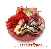 Collanina Sirenetta su conchiglia var. rossa
